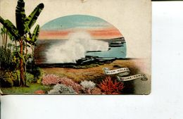 (211) Very Old - Tonga Island Pre-paid Postcard - Circa 1895 - Blow Hole Houma Tonga - Tonga