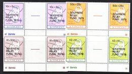 ST. VINCENT  B 1-4 X 2    **    MAP   GUTTER  PAIRS - St.Vincent (...-1979)