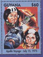 Guyana 1994 Space Apollo Voyage MNH 1V - Guyane (1966-...)
