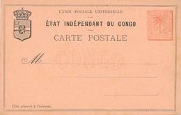ETAT DU CONGO - Post Card - Ganzsachen