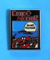 1 PIN'S //   ** RÉTRO MOBILE ** RÉTRO NAUTIQUE ** // 1000 Exemplaires . (Locomobile 1941) - Pin's