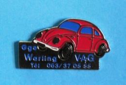 1 PIN'S //   ** COCCINELLE ** VOLKSWAGEN ** GARAGE WARLING V.A.G ** . (NTL) - Volkswagen