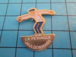 Pin713G Pin's Pins : Rare Et Belle Qualité : SPORTS / LA PETANQUE JAULGONNAISE - Bowls - Pétanque