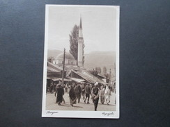 AK 1929 Bosnien / SHS. Dapajebo / Sarajewo. Einheimische / Moschee / Kirche. An Prof. Dr. Carl Patsch. Social Philately - Bosnie-Herzegovine