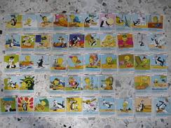 STENVAL Années 70 Titi Grosminet Titi En Amérique ; 48 Cartes Sur 50 Formant Au Dos Un Puzzle Des Etats Unis. - Publicité