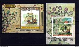 EQUATORIAL GUINEA - 1973 - SAILING SHIPS - Magellan - COLUMBUS  Souvenir Sheet Block MNH WYSIWYG A04s - Equatorial Guinea