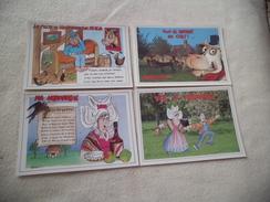 LOT DE 4 CARTES HUMORISTIQUES ......NORMANDIE ...SIGNE D. TREMAULT - Humor