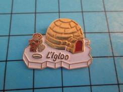 Pin713i Pin's Pins : Rare Et Belle Qualité : ALIMENTATION / RESTAURANT L'IGLOO ESKIMO Tout Est Du Surgelé !!! PLAQUE OR - Food