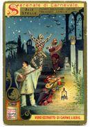 626> Figurina LIEBIG = Serie: Serenate Di Carnevale = Alle Stelle = Pierrot Arlecchino Pulcinella Anno 1898 - Liebig