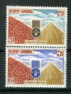CAMBODGE ( POSTE ) : Y&T N° 130/131  TIMBRES  NEUFS  SANS  TRACE  DE  CHARNIERE , A  VOIR . - Cambodia