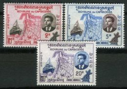 CAMBODGE ( POSTE ) : Y&T N°  84/86  TIMBRES  NEUFS  SANS  TRACE  DE  CHARNIERE , A  VOIR . - Cambodia