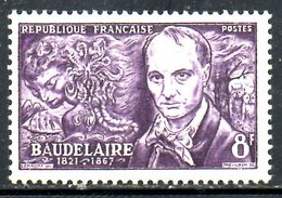FRANCE. N°908 Avec Trace De Charnière De 1951. Poète Baudelaire. - Ecrivains