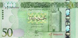 LIBYA 50 DINARS ND (2016) P-84a UNC CENTRAL BANK IN BEIDA [LY549a] - Libya