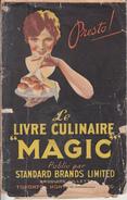 Vintage 1920 - Livre Culinaire Magic De Standard Brands - 48 Pages - Cuisine Gastronomie Recettes Gâteau Tarte Biscuits - Gastronomie