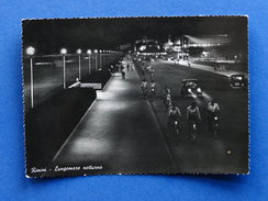 Cartolina Rimini - Lungomare Notturno - 1956 - Rimini