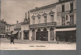 D33 - LANGON -  Place  Maubec  (PHARMACIE + SELLERIE  GARROSTE  ....) - Langon