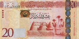LIBYA 20 DINARS ND (2013) P-79a UNC  [LY544a] - Libië