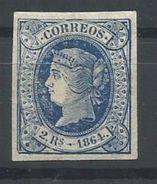 ESPAÑA  EDIFIL  68   (FIRMADO SR CAJAL, MIEMBRO DE IFSDA)  MH  * - 1850-68 Kingdom: Isabella II