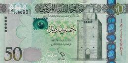LIBYA 50 DINARS ND (2013) P-80a UNC [LY545a] - Libië