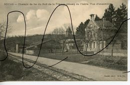 CARTE POSTALE. CPA. D38. ROYAS Chemin De Fer TRAMWAY Du Sud De La France,reseau De L'isere. Vue D'ensemble. SOULIE PHOT - Frankrijk