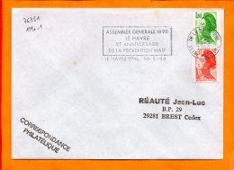 SEINE MME, Le Havre, Flamme à Texte, Xe Anniversaire De La Prevention MAIF, 1990 - Marcophilie (Lettres)