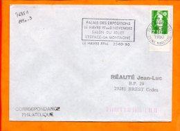 SEINE MME, Le Havre, Flamme à Texte, Salon Du Jouet, 1-8 Novembre - Marcophilie (Lettres)