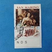 1990 SAN MARINO FRANCOBOLLO USATO STAMP USED - OCCUPAZIONE ALBERONIANA - San Marino