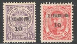 Luxemburg Yvert/Prifix Preo 1910 71/72(*) TB Sans Défaut Cote EUR 52 (numéro Du Lot 233TL) - Luxembourg