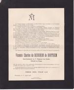 14-18 CONGO Vicomte Charles De BEUGHEM De HOUTHEM Sous-lieutenant 2 Guides Détaché Au Congo Mort Patrie 3 Juillet 1916 - Décès