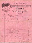 VP11.316 - Facture - Fabrique D'Ebenisterie De Style CHENU - L. BETTEFELD à PARIS Rue Du Faubourg Saint Antoine - France