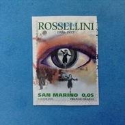2006 SAN MARINO FRANCOBOLLO USATO STAMP USED - ROSSELLINI 0,05 - San Marino