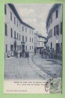 OULX : Via E Antica Casa Del Ministro Odiard Des Ambrois. Saluti Da. 2 Scans. Edition Genta N°42 - Andere Steden