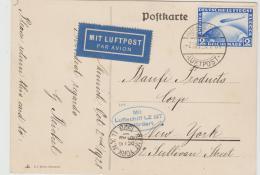W-L072 / Mit  LZ 127 Nach N.Y- 1928, Frankiert Mit Zeppelin Marke 2 RM - Deutschland