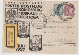 W-L074 / DEUTSCHES REICH -  Erster Postflug,  Königsberg  Moskau, Anlässlich Der Ostmesse 15.7.27 - Briefe U. Dokumente