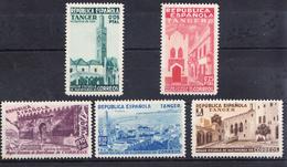 TANGER.MARRUECOS 1937.EDIFIL BENEFICENCIA  Nº 1/5  .SERIE NUEVA CON  CHARNELA..CECI 2 Nº 128 - Marruecos Español