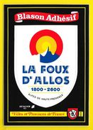 LA FOUX D'ALLOS Rare Blason Adhésif (Kroma N°554) Alpes De Haute Provence (04) - France