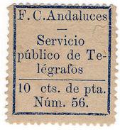 (I.B) Spain Telegraphs : Andalucia 10c Dark Blue (1886) - Spain
