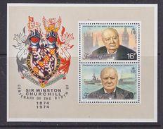 Falkland Islands 1974 Sir Winston Churchill M/s  ** Mnh (37099) - Falklandeilanden