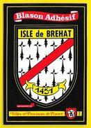 ISLE DE BREHAT Rare Blason Adhésif (Kroma N° 550) Côtes D'Armor (22) - Ile De Bréhat