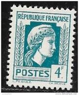 N° 643   FRANCE  -  FRANCE  -  NEUF    -  MARIANNE  D'ALGER  -  1944 - France
