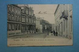 Soignies Rue De La Station Et Pensionnat Des Demoiselles - Soignies