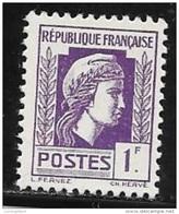 N° 637   FRANCE  -  FRANCE  -  NEUF    -  MARIANNE  D'ALGER  -  1944 - Francia