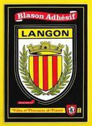 LANGON Rare Blason Adhésif (Kroma N° 556) Gironde (33) - Langon