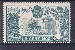 ESPAÑA 1905. TERCER CENTENARIO PUBLICACION EL QUIJOTE   EDIFIL Nº 257 15 CENT. NUEVOS SIN   CHARNELA  CECI 2 Nº 128 - Nuevos