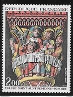 N° 1741   FRANCE  -  NEUF  -  TABLEAU CHAPITEAU DE LA CENE DE L'EGLISE D'ISSOIRE  -  1973 - Francia