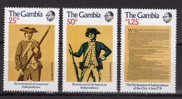 Gambia Set Of Stamps To Celebrate 200th Declaration Of Independence Of USA. - Gambie (1965-...)