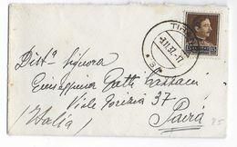 ALBANIE - 1937 - ENVELOPPE PETIT FORMAT CARTE DE VISITE De TIRANE => PAIRA (ITALIE) - Albanie
