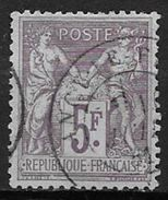 France 1877 N° 95 Oblitéré - 1876-1898 Sage (Tipo II)