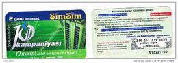 AZERBAIJAN  - AZERCELL   RECHARGE GSM   -  SIMSIM: 1G1 KAMPANIYASI   - USATA° (USED)   -    RIF.304 - Azerbaigian