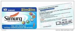 AZERBAIJAN  - AZERCELL   RECHARGE GSM   -  SIMSIM: SIMURQ 10   - USATA° (USED) -  RIF. 309 - Azerbaigian